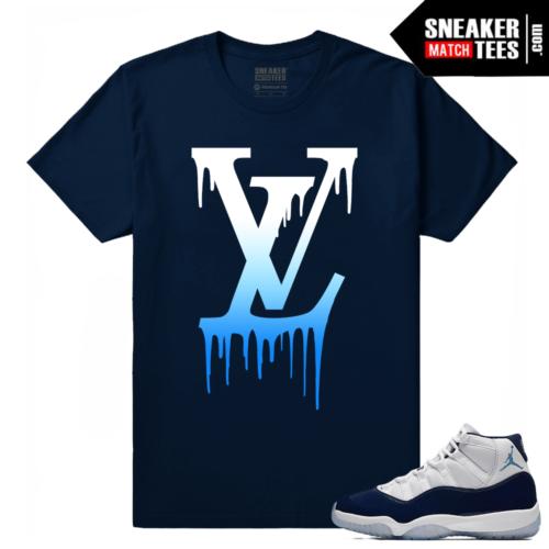 Jordan 11 Midnight Navy Sneaker tees LV Drip