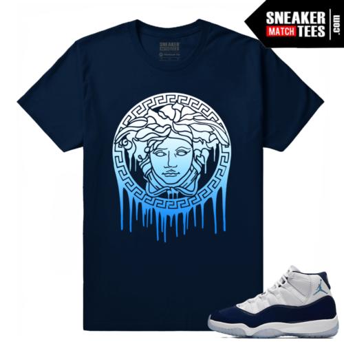 Jordan 11 Midnight Navy Sneaker tees Medusa Drip
