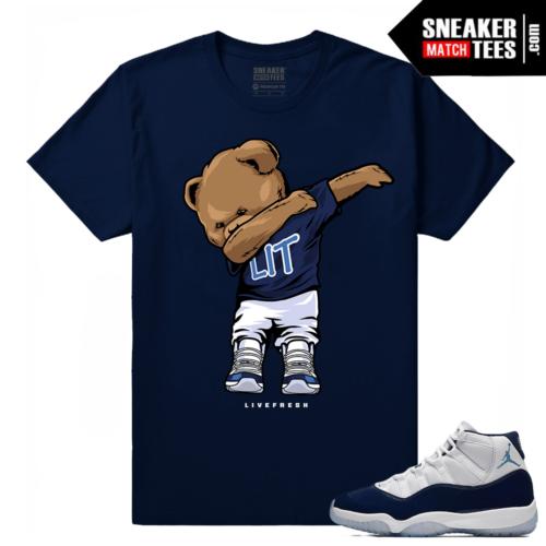 Jordan 11 Midnight Navy T shirt Dabbin Polo Bear