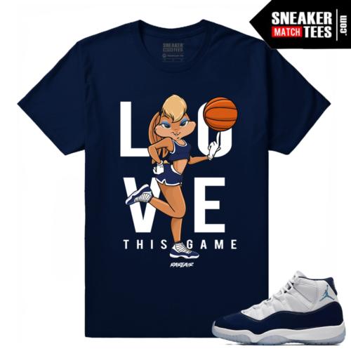 Jordan 11 Midnight Navy T shirt Love This Game