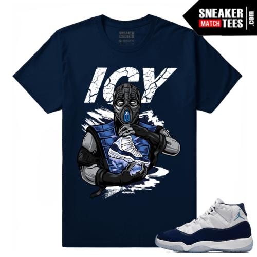 Jordan 11 Navy Sneaker tees Icy Sole