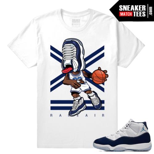 Jordan 11 Sneaker tees Midnight Navy 11 White T shirt Sneakerhead