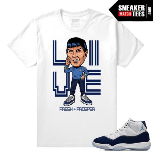 Jordan 11 Sneaker tees White T shirt Live Fresh Prosper