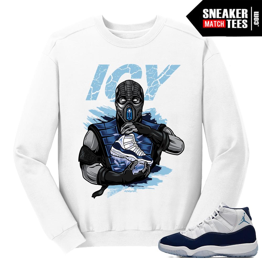 f73b6a5b73e1b7 ... Jordan 11 Win Like 82 White Sweater Subzero Icy Sole ...