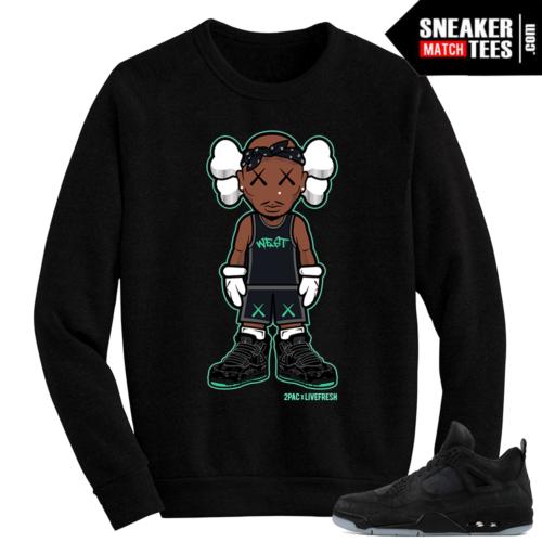 Kaws Jordan 4 Black Crewneck Sweater 2Pac Kaws
