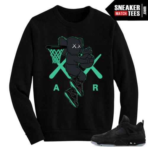 Kaws Jordan 4 Black Crewneck Sweater Air Kaws