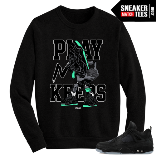 Kaws Jordan 4 Black Crewneck Sweater Sneakerhead Play For Keeps