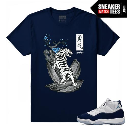 Midnight Navy 11 Sneaker tees White Tiger