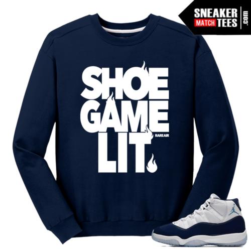 Midnight Navy 11 Sweater Navy Shoe Game Lit