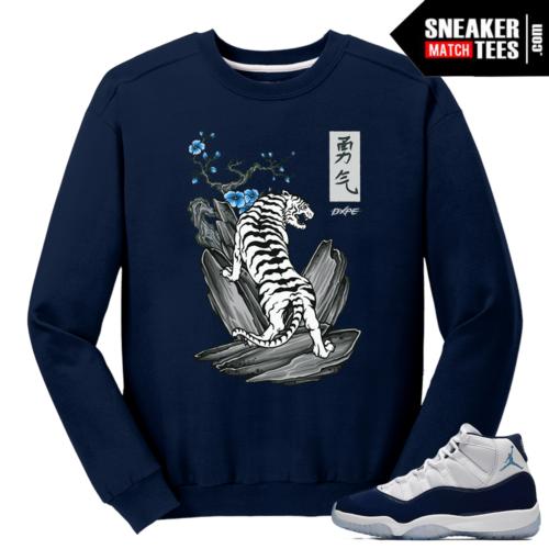 Midnight Navy 11 Sweater Navy White Tiger