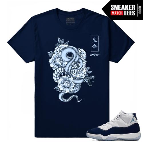 Midnight Navy 11 T shirt Japanese Snake