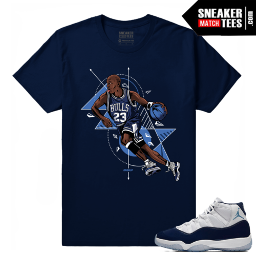 Midnight Navy 11 T shirt MJ Fast Break