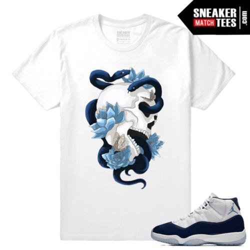 Midnight Navy Sneaker tees White T shirt Serpent Skull