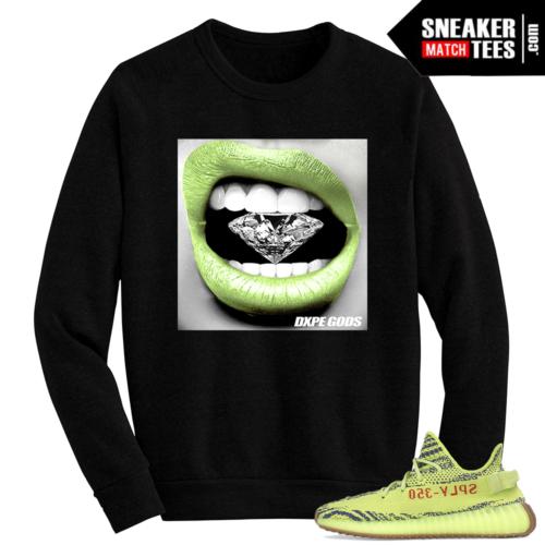 Semi Frozen Yeezy Boost 350 V2 Crewneck Sweater Diamond Lips