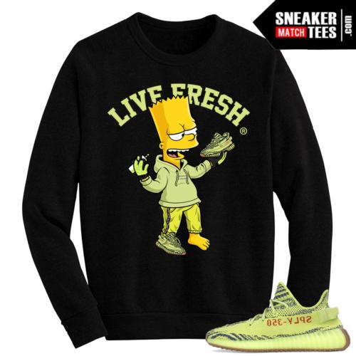 Semi Frozen Yellow Yeezy Boost 350 V2 Live Fresh Bart
