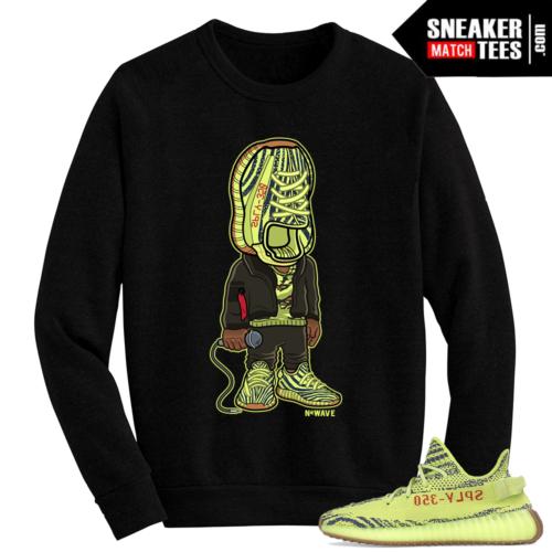 Sneakerhead Yeezy Boost 350 v2 Semi Frozen Yellow Crewneck