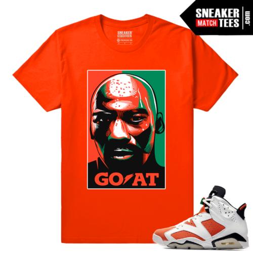 Gatorade 6s Sneaker tees Orange Goat