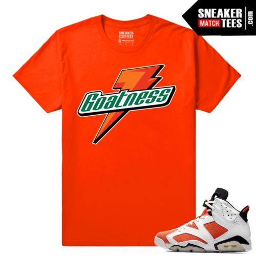Gatorade 6s Sneaker tees Orange Goatness