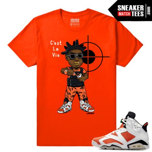 Gatorade 6s Sneaker tees Orange Kodak Black C'est La Vie