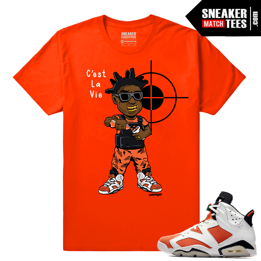b62676806432d0 Gatorade 6s Sneaker tees Orange Kodak Black C est La Vie