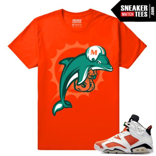 Gatorade 6s Sneaker tees Orange Miami Alternate Logo