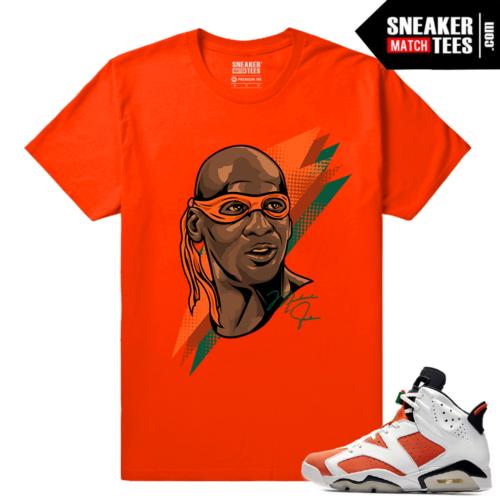 Gatorade 6s Sneaker tees Orange Michaelangelo