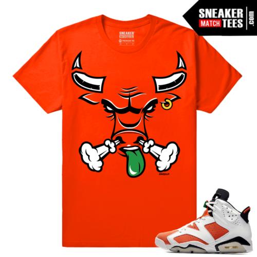 Gatorade 6s Sneaker tees Orange Rare Air Bull