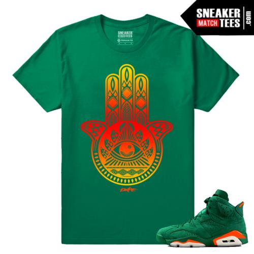 Gatorade 6s Green Sneaker tees Hamsa Hand