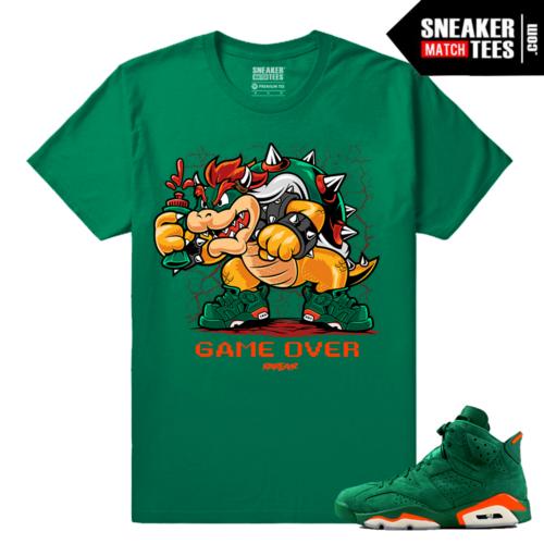 Gatorade Green 6s Sneaker tees King Koopa Game Over