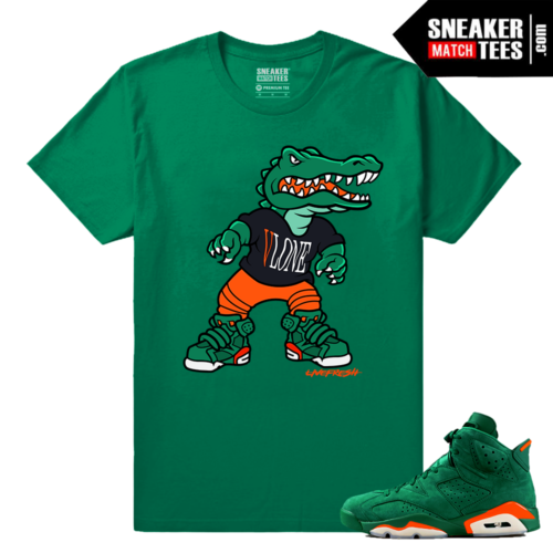 Gatorade 6s Green Sneaker tees Live Fresh Gator 6s