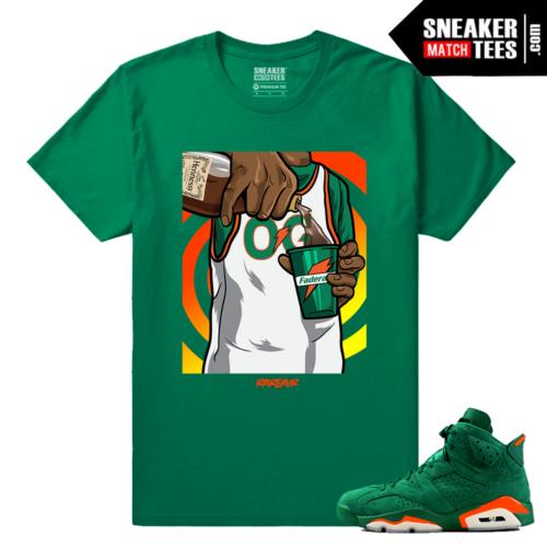 Gatorade 6s Green Sneaker tees Turn up