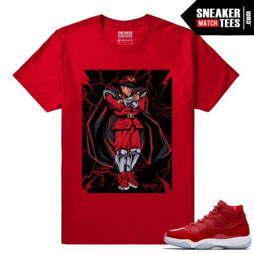 Jordan 11 Win Like 96 Gym Red Sneaker tees Bison Rare Air