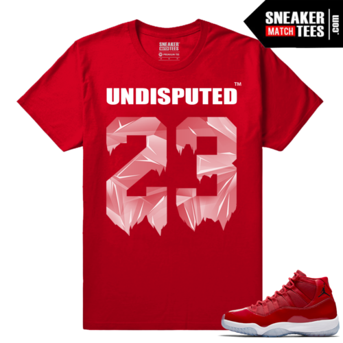 Jordan 11 Win Like 96 Red T shirt Undisputed 23