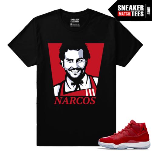 Jordan 11 Win Like 96 Sneaker tees Black Pablo Narcos
