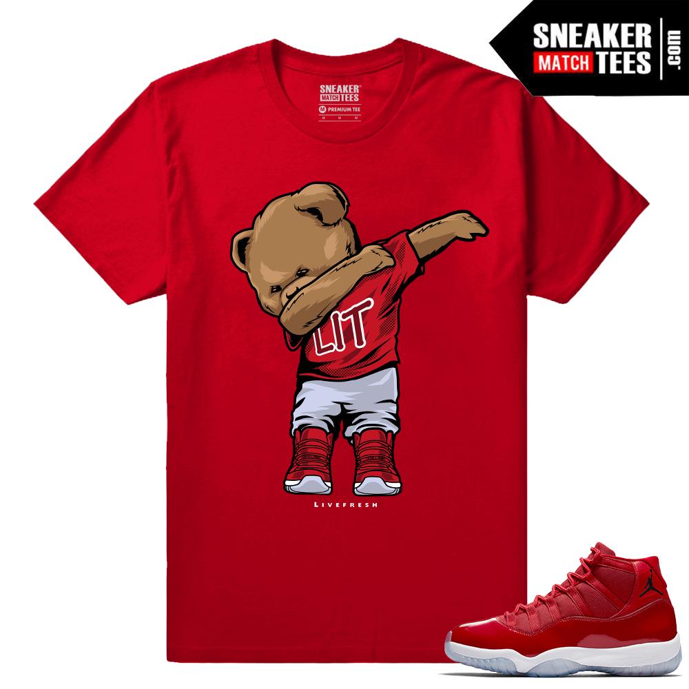 df32b1d683f223 Jordan 11 Win Like 96 Sneaker tees Dabbin Polo Bear
