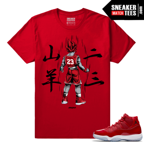 Jordan 11 Win Like 96 Sneaker tees Rare Air Goku 11s
