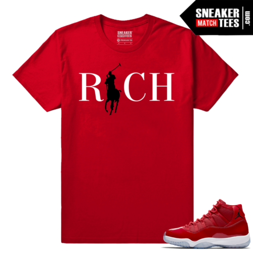Jordan 11 Win Like 96 Sneaker tees Red Country Club Rich