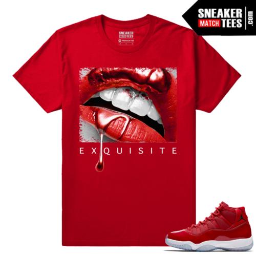Jordan 11 Win Like 96 Sneaker tees Red Exquisite Lips