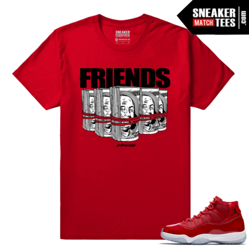 Jordan 11 Win Like 96 Sneaker tees Red Friends