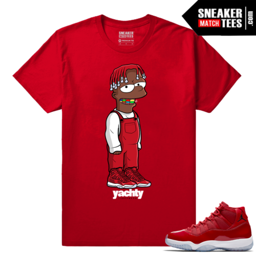 Jordan 11 Win Like 96 Sneaker tees Red Lil Yachty