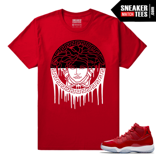 Jordan 11 Win Like 96 Sneaker tees Red Medusa Drip