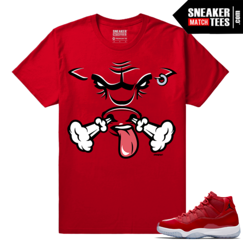 Jordan 11 Win Like 96 Sneaker tees Red Rare Air Bull