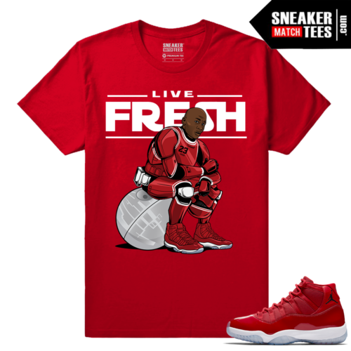 Jordan 11 Win Like 96 T shirt Red MJ Trooper 11