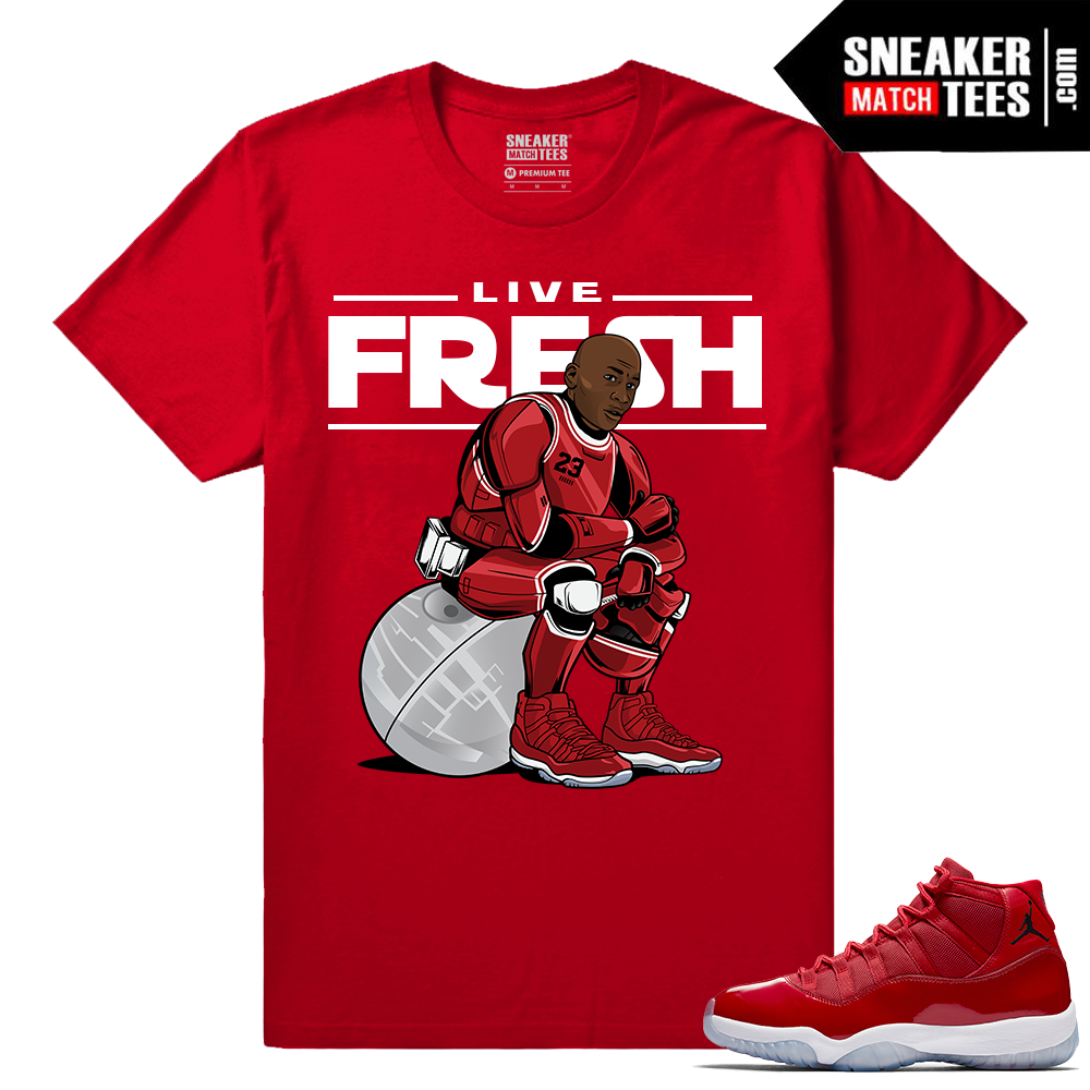 best sneakers eaea5 b3c17 Jordan 11 Win Like 96 T shirt Red MJ Trooper 11 Air . T Shirts To Match  Sneakers ...