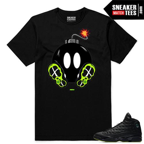 Altitude 13 Sneaker tees Black 13s Boomin