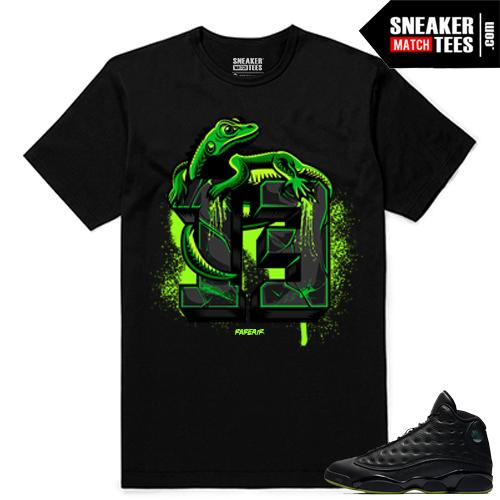 Altitude 13 Sneaker tees Black Altitude Lizard