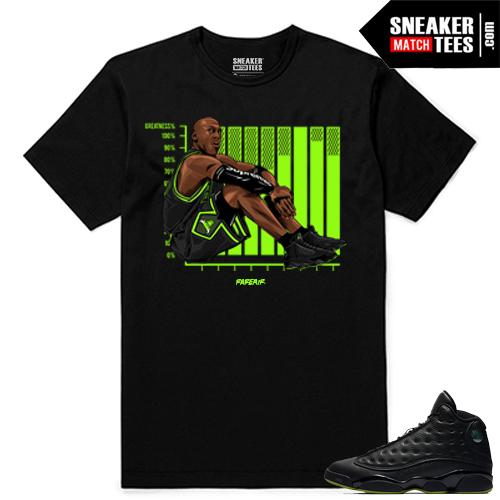 Altitude 13 Sneaker tees Black MJ Supreme Greatness
