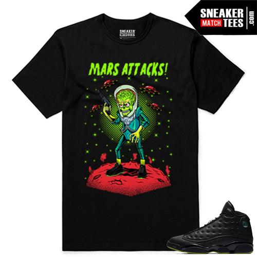 Altitude 13 Sneaker tees Black Mars Attack