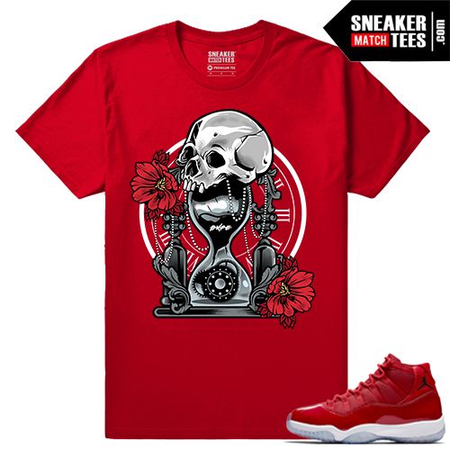 Jordan 11 Win Like 96 Sneaker tees Red Dxpe Hour Glass