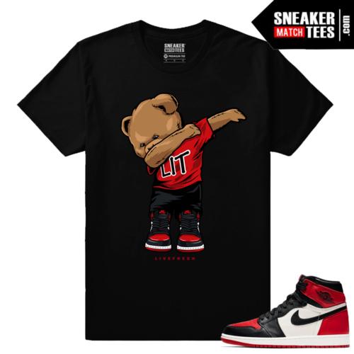 Jordan 1 Bred Toe Sneaker tees Black Dabbin Polo Bear